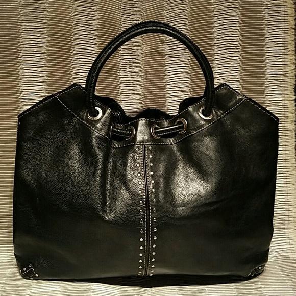 24fca31352b3 Michael Kors Bags   Astor Ring Grommet Studded Blk Tote   Poshmark